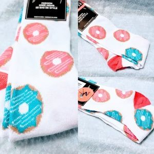Accessories - Knee High Glazed Doughnut Socks size 5-9🆕🦄